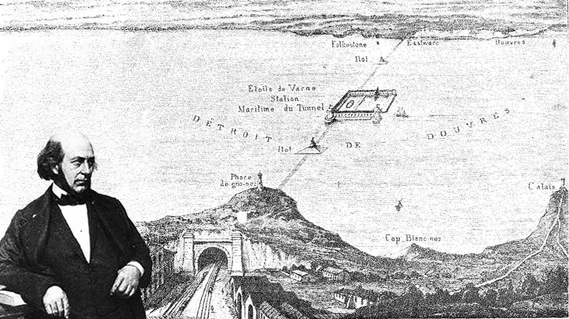 Histoire Getlink - 1834 - Tunnel Ferroviaire