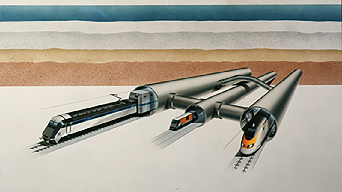 Histoire Getlink 1985 - Projet eurotunnel