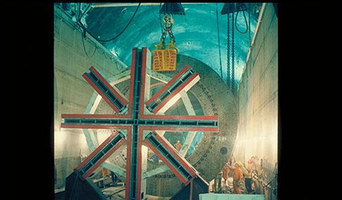 Histoire Getlink - 1987 - Debut travaux eurotunnel