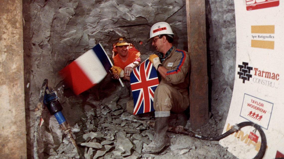 Histoire Getlink - 1990 - Jonction historique sous la manche