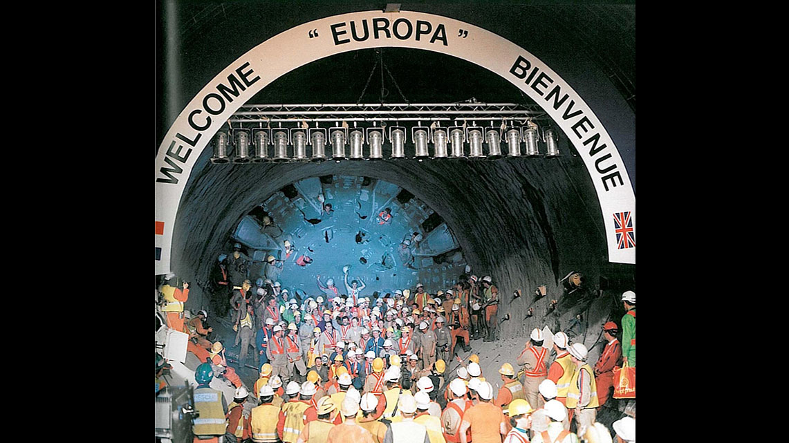 Getlink History - 1991 - Breakthrough in the north rail tunnel