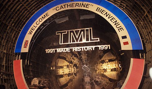 Getlink History - 1991 - Breakthrough in the south rail tunnel