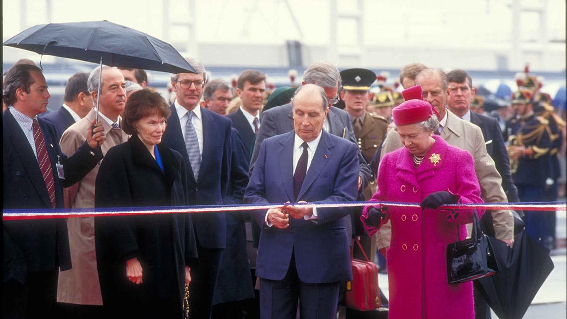 Histoire Getlink - 1994 - Inauguration Eurotunnel