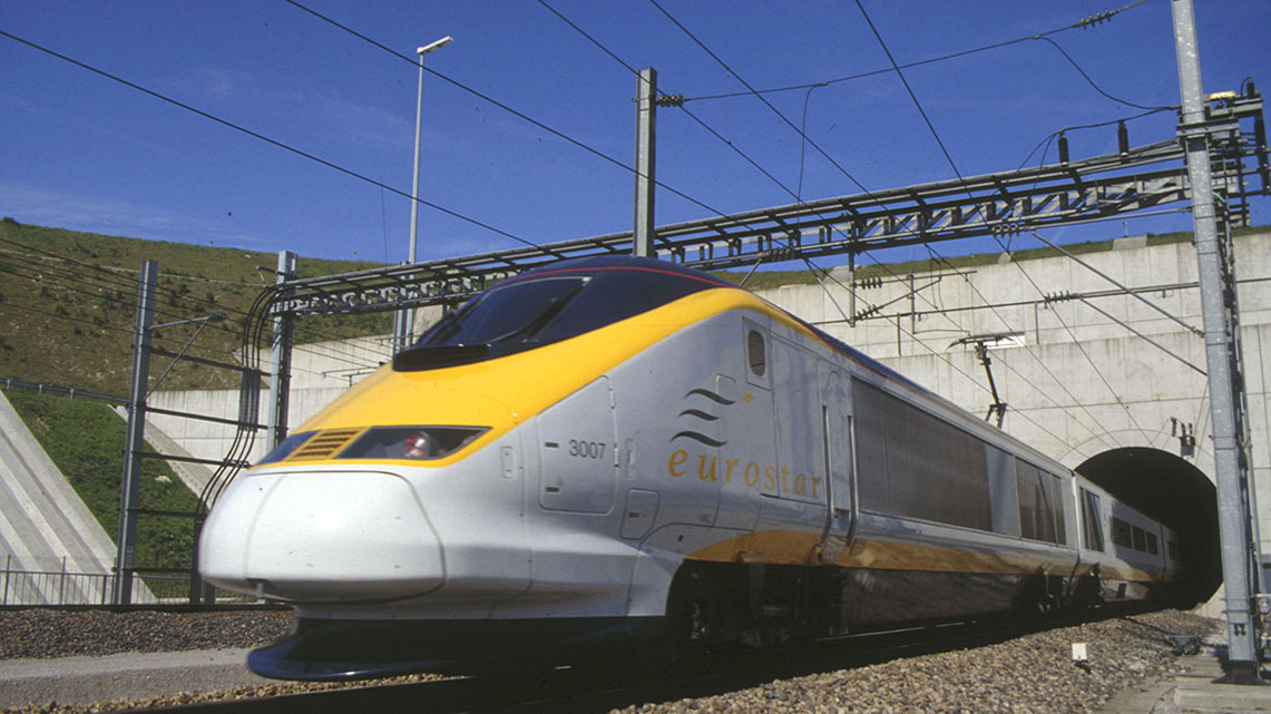 Getlink History - 1994 - Start of the commercial Eurostar service through the Channel Tunnel.