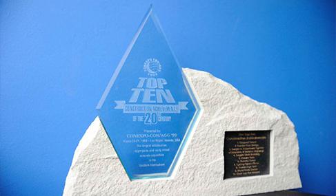 Histoire Getlink - 1999 - Eurotunnel prix plus important ouvrage du monde