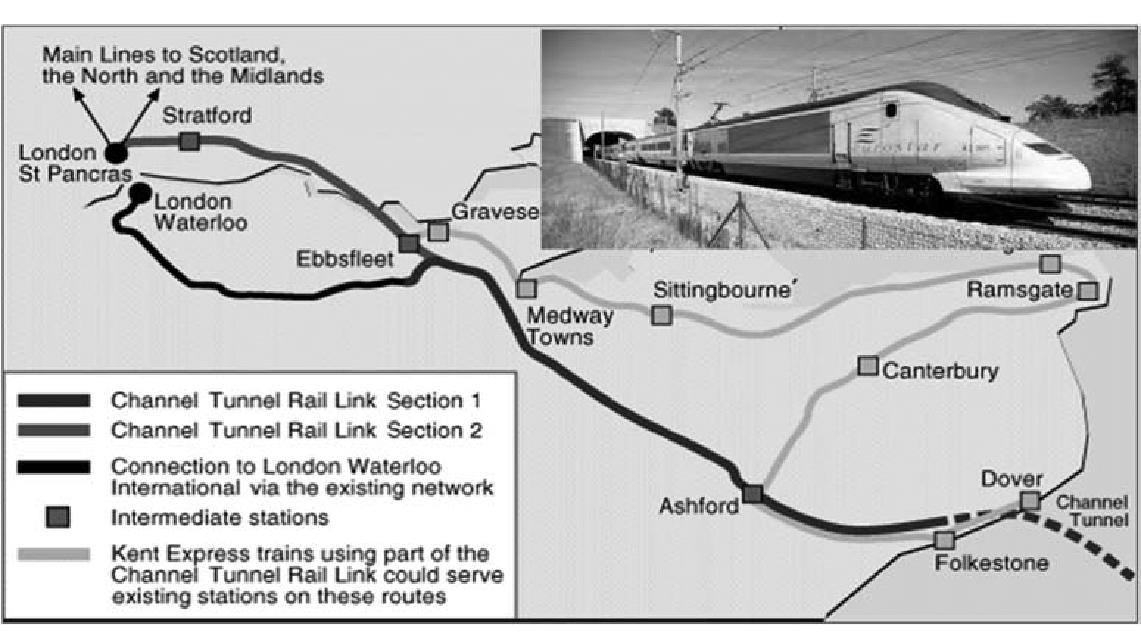 Histoire Getlink - 2003 - Ouverture tronçon eurotunnel UK