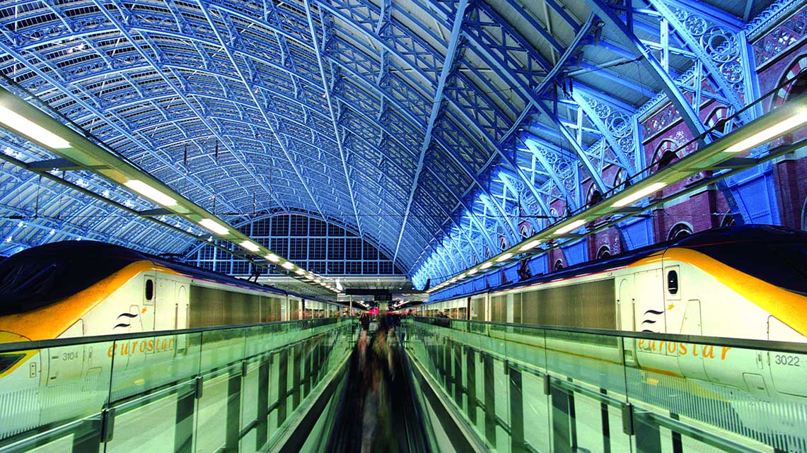 Getlink History - 2007 - St Pancras station in London - EUrostar
