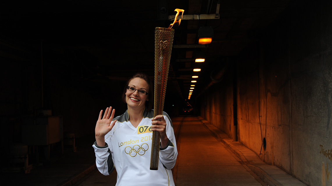 Getlink History - 2012 - Olympic torch through the Channel Tunnel