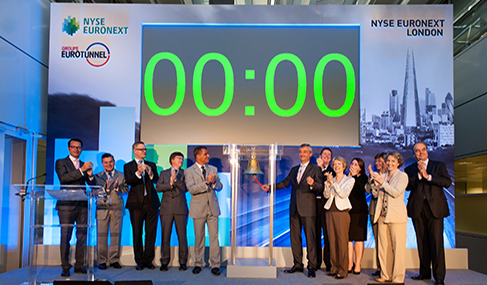 Histoire Getlink - 2012 - Groupe Eurotunnel sur NYSE Euronext Londres