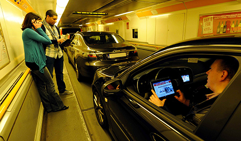Getlink History - 2012 - launch of mobile telephone and internet services in the Channel Tunnel
