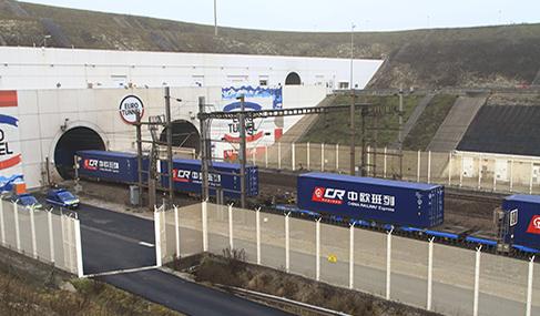 Histoire Getlink - 2017 - Premier train en provenance de chine dans le tunnel sous la manche