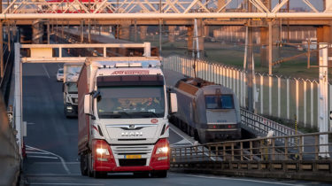 Getlink - Trucks on board Le Shuttle Freight Shuttles