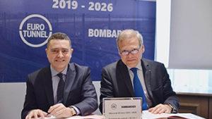 Signature d'un contrat entre Eurotunnel et Bombardier Transport
