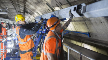 Eleclink - Preparatory works in the north Tunnel