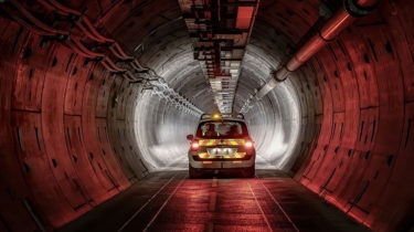 Tunnel de service, eurotunnel