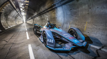 Getlink - A Formula E electric racing car in the tunnel channel